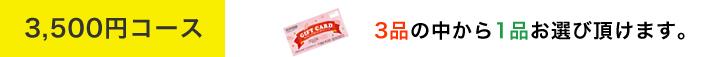 3500円コース 3品の中から1品お選び頂けます。